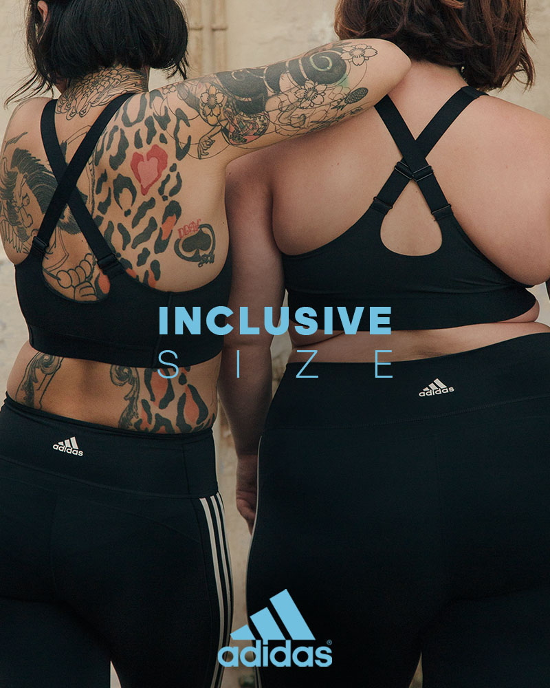 adidas inclusive size over size body positive